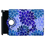 Azurite Blue Flowers Apple iPad 3/4 Flip 360 Case