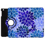 Azurite Blue Flowers Apple iPad Mini Flip 360 Case