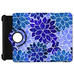Azurite Blue Flowers Kindle Fire HD Flip 360 Case