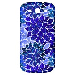 Azurite Blue Flowers Samsung Galaxy S3 S III Classic Hardshell Back Case