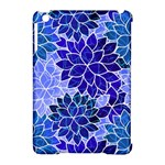 Azurite Blue Flowers Apple iPad Mini Hardshell Case (Compatible with Smart Cover)