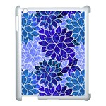 Azurite Blue Flowers Apple iPad 3/4 Case (White)