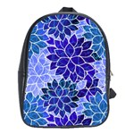 Azurite Blue Flowers School Bags (XL)