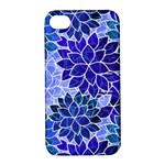 Azurite Blue Flowers Apple iPhone 4/4S Hardshell Case with Stand