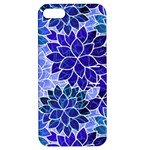 Azurite Blue Flowers Apple iPhone 5 Hardshell Case with Stand