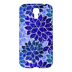 Azurite Blue Flowers Samsung Galaxy S4 I9500/i9505 Hardshell Case by KirstenStar