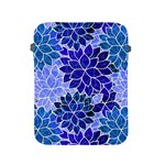 Azurite Blue Flowers Apple iPad 2/3/4 Protective Soft Cases