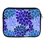 Azurite Blue Flowers Apple iPad 2/3/4 Zipper Cases