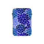 Azurite Blue Flowers Apple iPad Mini Protective Soft Cases
