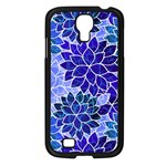 Azurite Blue Flowers Samsung Galaxy S4 I9500/ I9505 Case (Black)