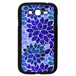 Azurite Blue Flowers Samsung Galaxy Grand DUOS I9082 Case (Black)