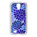 Azurite Blue Flowers Samsung GALAXY S4 I9500/ I9505 Case (White)