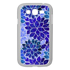 Azurite Blue Flowers Samsung Galaxy Grand DUOS I9082 Case (White)
