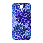 Azurite Blue Flowers Samsung Galaxy S4 I9500/I9505  Hardshell Back Case