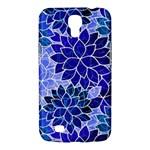 Azurite Blue Flowers Samsung Galaxy Mega 6.3  I9200 Hardshell Case