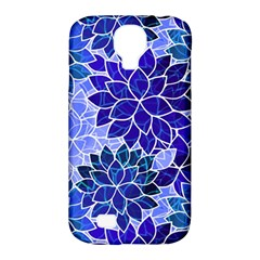 Azurite Blue Flowers Samsung Galaxy S4 Classic Hardshell Case (pc+silicone) by KirstenStar
