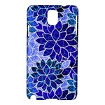 Azurite Blue Flowers Samsung Galaxy Note 3 N9005 Hardshell Case