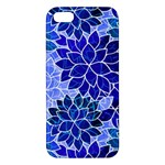 Azurite Blue Flowers iPhone 5S/ SE Premium Hardshell Case
