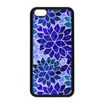 Azurite Blue Flowers Apple iPhone 5C Seamless Case (Black)