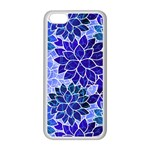 Azurite Blue Flowers Apple iPhone 5C Seamless Case (White)