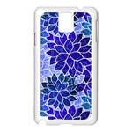 Azurite Blue Flowers Samsung Galaxy Note 3 N9005 Case (White)