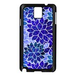 Azurite Blue Flowers Samsung Galaxy Note 3 N9005 Case (Black)