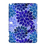 Azurite Blue Flowers Samsung Galaxy Note 10.1 (P600) Hardshell Case