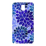 Azurite Blue Flowers Samsung Galaxy Note 3 N9005 Hardshell Back Case