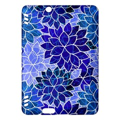 Azurite Blue Flowers Kindle Fire Hdx Hardshell Case by KirstenStar