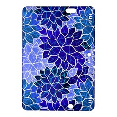 Azurite Blue Flowers Kindle Fire HDX 8.9  Hardshell Case by KirstenStar