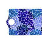 Azurite Blue Flowers Kindle Fire HD (2013) Flip 360 Case
