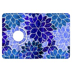 Azurite Blue Flowers Kindle Fire Hdx Flip 360 Case by KirstenStar
