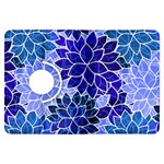 Azurite Blue Flowers Kindle Fire HDX Flip 360 Case