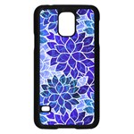 Azurite Blue Flowers Samsung Galaxy S5 Case (Black)