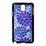 Azurite Blue Flowers Samsung Galaxy Note 3 Neo Hardshell Case (Black)