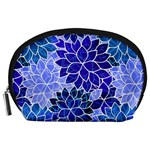 Azurite Blue Flowers Accessory Pouches (Large)