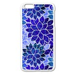 Azurite Blue Flowers Apple iPhone 6 Plus/6S Plus Enamel White Case