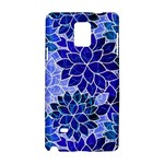 Azurite Blue Flowers Samsung Galaxy Note 4 Hardshell Case
