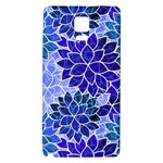 Azurite Blue Flowers Galaxy Note 4 Back Case