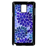 Azurite Blue Flowers Samsung Galaxy Note 4 Case (Black)