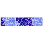 Azurite Blue Flowers Flano Scarf (Small)