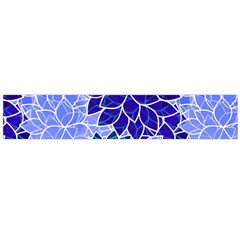Azurite Blue Flowers Flano Scarf (Large)