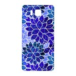 Azurite Blue Flowers Samsung Galaxy Alpha Hardshell Back Case