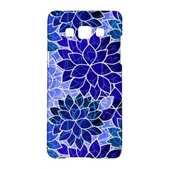 Azurite Blue Flowers Samsung Galaxy A5 Hardshell Case