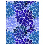 Azurite Blue Flowers Drawstring Bag (Large)