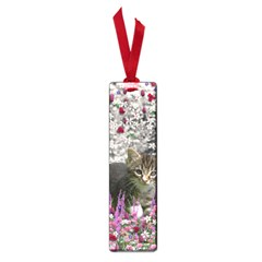 Emma In Flowers I, Little Gray Tabby Kitty Cat Small Book Marks by DianeClancy