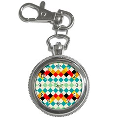 Rhombus Pattern                                                              			key Chain Watch by LalyLauraFLM