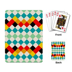 Rhombus Pattern                                                              			playing Cards Single Design by LalyLauraFLM