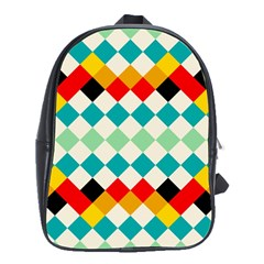 Rhombus Pattern                                                              			school Bag (large) by LalyLauraFLM