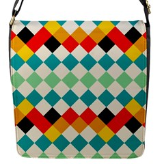 Rhombus Pattern                                                              			flap Closure Messenger Bag (s) by LalyLauraFLM